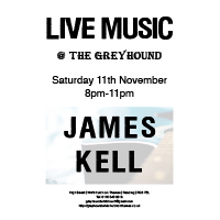 Live Music with<br> James Kell
