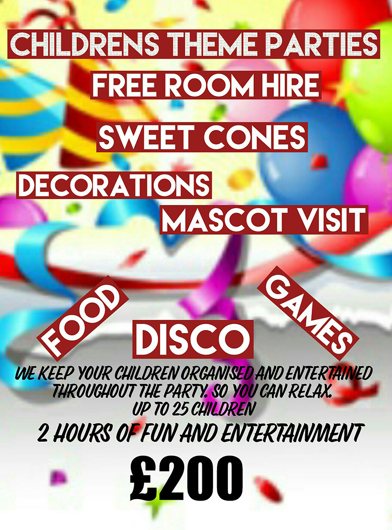 CHILDRENS THEME PARTIES