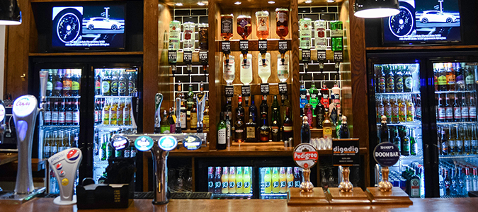 The Imperial Hotel, Crewe, Range of beers and spirits, liquor store, beer brands